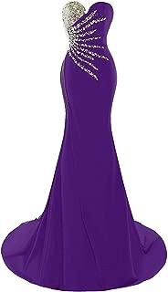 XingMeng Women's Sweetheart Long Mermaid Prom Dresses Beaded Evening Gowns