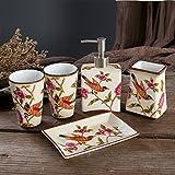 Keramik Seife-flasche,Dusche dispenser,Set Waschbecken zubehör Seife flaschen Gel-duschkabine...