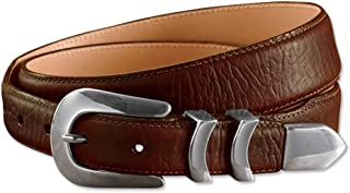 Bison Tapered-edge Belt With Silver Buckle