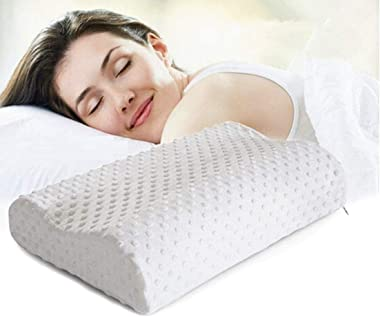 RANISATI Memory Foam Pillow Standard Size Neck & Back Support for Sleeping with Removable Zipper Cover Pillow, Cervical P