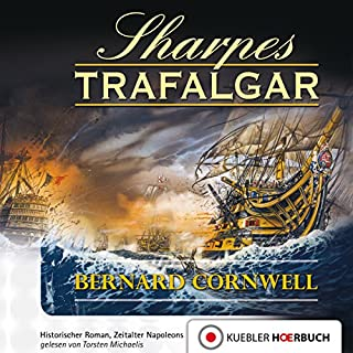 Sharpes Trafalgar audiobook cover art