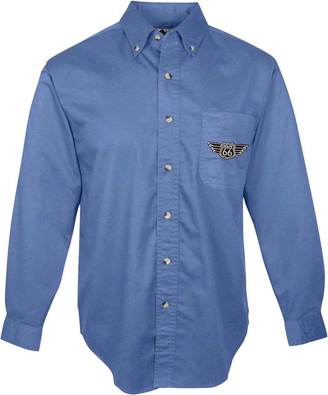 Buy Cool Shirts Rt Route 66 Patch Dress Shirt with Pocket - Regular, Big and Tall Sizes