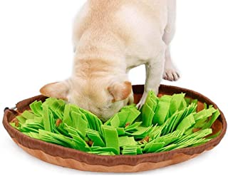 CHLJ 2 in 1 Pet Snuffle Feeding Mat, Foldable, Dog Foraging Skills Training, Durable Interactive Puzzle Dog Toy Dog Pressure Release,Green