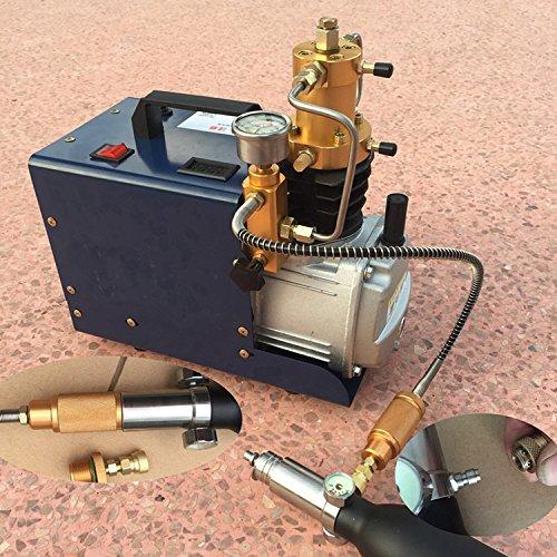 MXBAOHENG Pompe à Air Electrique Haute Pression Mini PCP Compresseur d'air Refroidi à l'eau Pompe Pneumatique 220V 30MPA 40MPA 4500psi 6000psi