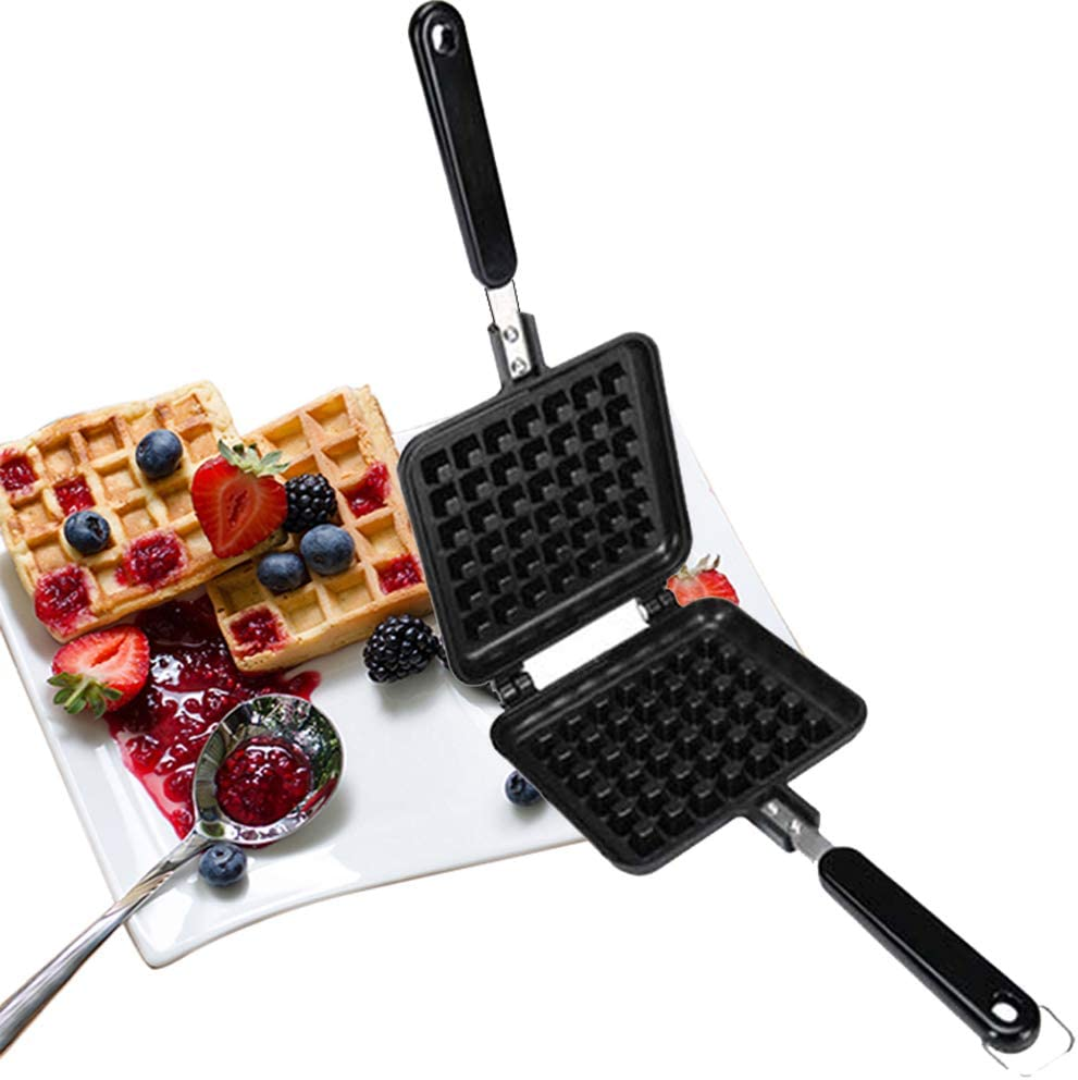 Stove Top Iron Large discharge sale Waffle Maker Deep Plates Co Non-Stick Fill Ranking TOP4 Teflon