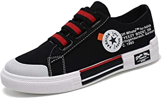 2019 Autumn New Men's Shoes Fashion Handsome Trend Casual Shoes Student Shoes (Color : Black red, Size : 44)