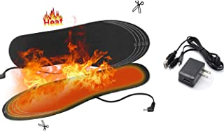Heated Insoles USB Heating Shoes Pad for Women and Men Electric Foot Warmer for Winter Adventures Hunting Fishing Hiking Skiing Snowboarding Camping