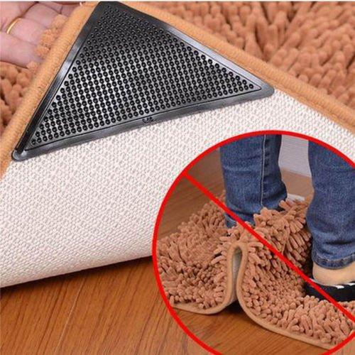 Yoogeer Lot de 4 Tapis Grippers, Tapis Coin Grippers réutilisable Bouchon Coussinets antidérapants Tapis pour Les Tapis/Accessoires pour la Maison