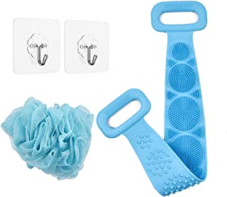 Silicone Back Scrubber For Shower, Silicone Body Scrubber,Silicone Bath Body Brush,Long-lasting Exfoliating Back Scrubber,...