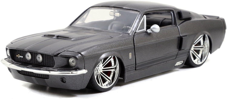 precios bajos todos los dias 1967de Ford Shelby gt 500Mustang 500Mustang 500Mustang gris negro 1  24Jada Juguetes 97411  diseños exclusivos