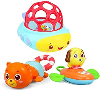 LGXJP Bath Toys, Drawstrings, Springs, Floating Toys, Exercise Hands, Cultivate Puzzles Baby toys ( Color : 3 )