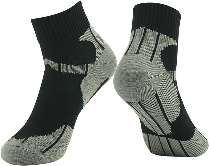 100% Waterproof Running Socks, RANDY SUN Unisex Mid-Calf/Ankle Sock XS-L 1 Pair