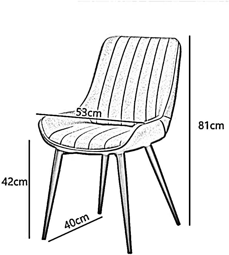 WHOJA Chaise Avec dossier Design ergonomique Cadre en bois massif Portant fort 6 couleurs 81x53x40cm Chaises d'angle (Color : D) E