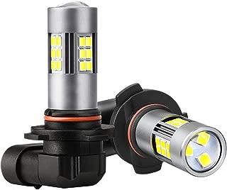 ZonCar H10 9145 LED Fog Light Bulbs,  6000K Xenon White 27-SMD Chips Non-polarity 9140 9040 9045 Fog Lights Lamp Replacement for Cars, Trucks (Pack of 2)