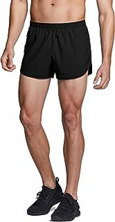 TSLA Men's Active Running Shorts, 3/4/5 Inch Quick Dry Mesh Jogging Workout Shorts, Gym Athletic Marathon Shorts with Pockets