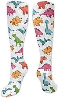 Tonesum, Calcetines cálidos de invierno, calcetines antideslizantes sobre la pantorrilla, calcetines deportivos de running 50CM