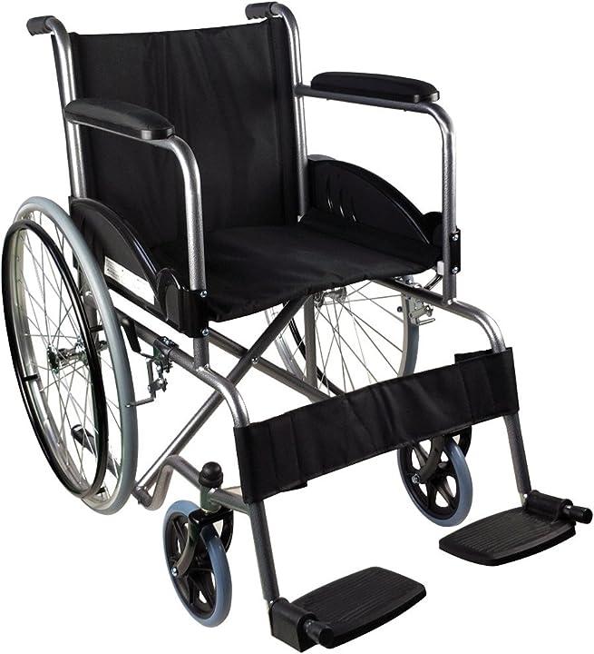 Mobiclinic, sedia a rotelle, alcazaba, marchio europeo, autospinta, marcatura ce, ruote pvc, pieghevole B06ZZDYF6W