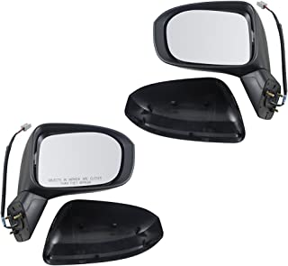 Pair Set Power Side View Mirrors Replacement for Honda Civic 76258-TR4-C01 76202-TR0-A01