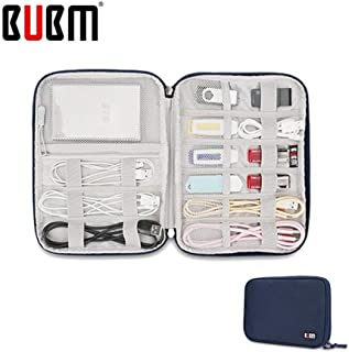 BUBM Universal Electronics Accessories Organizer, Travel Gear Carry Bag for Cables, USB Hard Drive, Plug, External Flash Drive and More, Lightweight and Compact