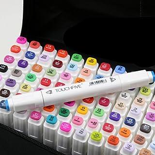 comprar comparacion Mydee Nuevo 80 Varios Colores Arte Dibujo Marker, Marcador punta fina de gráfico Doble-punta Rotuladores a Base de Alcohol...
