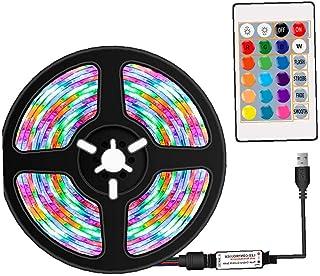 LED Strip verlichting LED Tape Light RGB Strip Remote Control Waterproof 16 kleuren decoratie voor huis TV Keuken DIY 1M h...