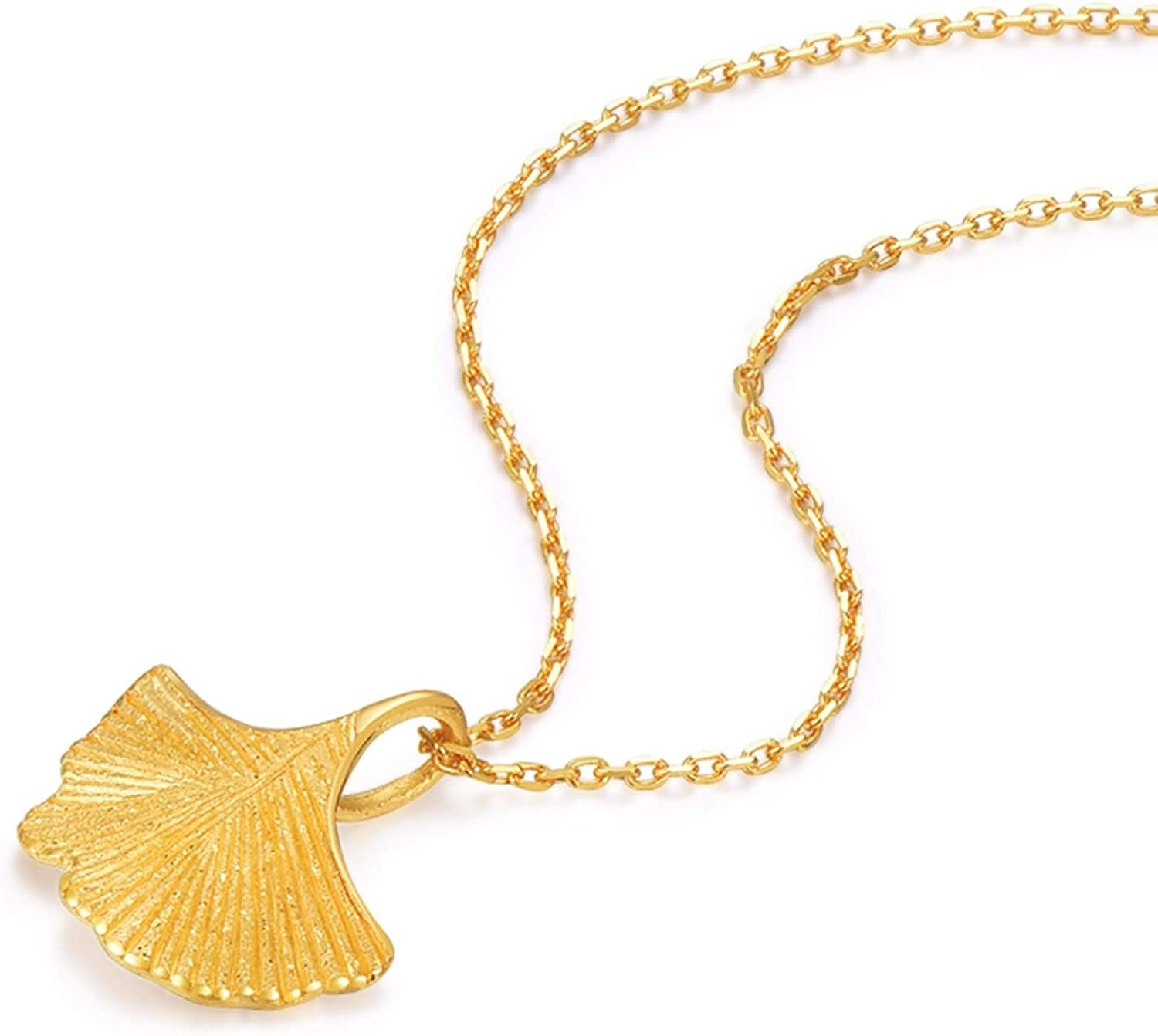 Epinki 18K Yellow Gold Women Delicate Sales of SALE items from new works Ginkgo Leaves Necklace Sale item Nec
