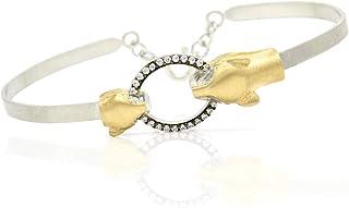 Bracciale di pantera - Bracciale Jaguar - Real Jewelry - Gioielli da donna - Cubic Zirconia