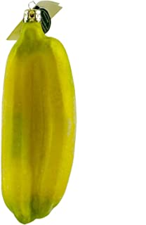 TANNENBAUM TREASURES Holiday Ornament Banana Bunch Blown Glass Ornament Fruit Vegetable Peel WEB41020