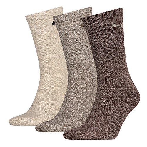 Puma Socken Sport , Größe:39/42; Farbe:dark brown; Pack:6er Pack