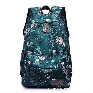 Backpack Bolsa De Estudiante, Mochila De Viento De La Academia De Moda, Chica del Bolso del Hombro 30-45L Verde