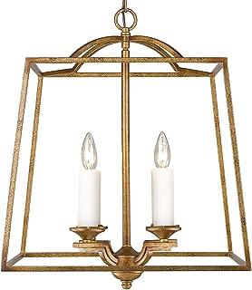 Golden Lighting 3072-4P GG Athena Pendant, Grecian Gold