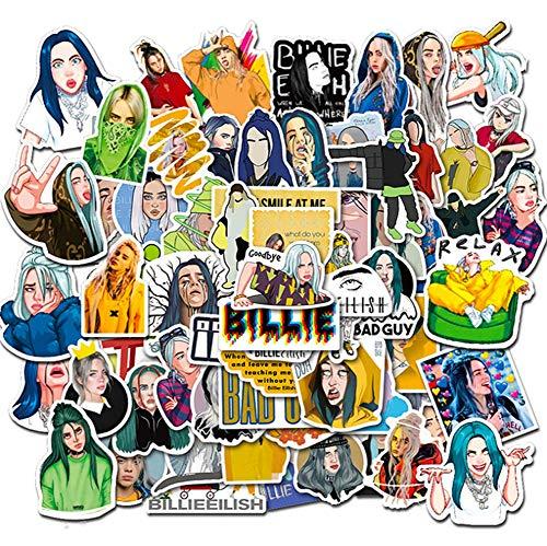 QIANGWEI Stickers, 50 stuks, cartoon skateboard, koelkast, gitaar, gitaar, motorfiets, notebook, bagage, waterdicht, klassiek speelgoed