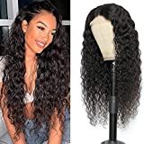 Lace Front Wigs Human Hair Water Wave Brazilian Wet and Wavy Lace Frontal Human Hair Wigs for Black Women Glueless 150% Density 4x4 Lace Closure Wig Pre Plucked Natural Color 22 inch