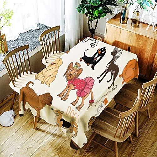 XXDD 3D geometrische Bär Tischdecke kreative Cartoon Tiermuster Tischdecke Bequeme wasserdichte Tischdecke nach Hause A2 135x135cm