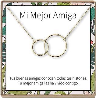 Dear Ava Collar Regalo para Amiga: Joyería, Mejor Amiga, Cumpleaños, Navidad, 2 Interlocking Circles