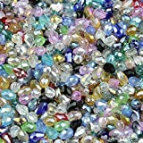 Pukido 4x6mm 6x8mm 8x11mm 10x15mm Water Droplet pear Shape Glass Beads Austrian Crystals Teardrop Crystal Bead Fit Jewelry DIY Making - (Color: Multicolored, Item Diameter: 10x15mm 50mm)