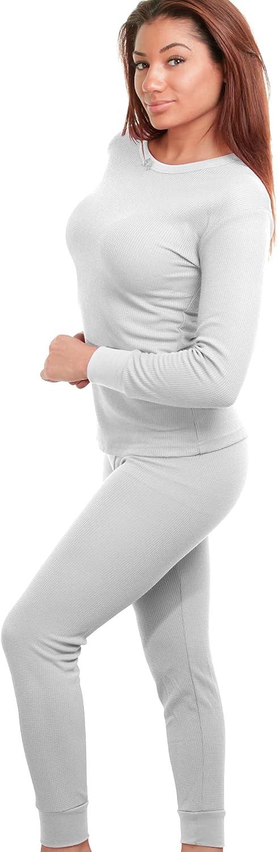 2-Piece: Women's Super Soft Cotton Thermal Underwear Set White