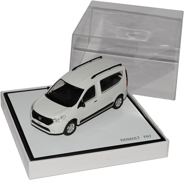 Norev Dacia Dokker Renault F67 Weiss Ab 2012 1 43 Modell Auto mit individiuellem Wunschkennzeichen B013PDFU7Q Das hochwertigste Material  | Shop Düsseldorf