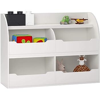 Max & Finn Fontana Toy Storage Bookcase, White
