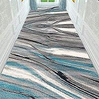 カーペット 廊下 廊下敷き 現代のランナー敷物抽象的な幾何学的なスローカーペット現代の花と廊下の入り口のための植物マット 1224 (Color : T15, Size : 1X4m)