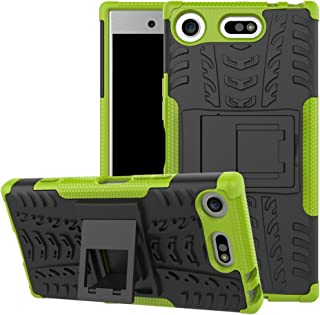 Xperia XZ1 Compact Case, Ikwcase Heavy Duty Armor Tough Hybrid Shockproof Dual Layer Kickstand Protective Case Cover for S...
