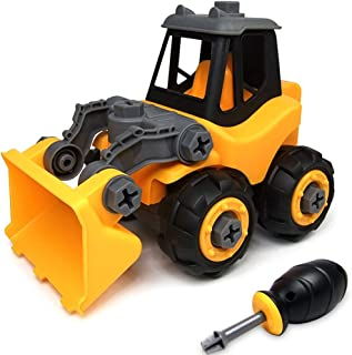 WisToyz Take Apart Toys, Toy Vehicles, Toy Bulldozer Toddlers Toys, Constructions Vehicles Set with Screwdriver, Ideal Educational Toy for Boys & Girls Aged 3, 4, 5, 6