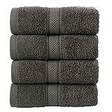 Todd Linens Juego de toallas de mano de 4 piezas – 500 g/m² de...