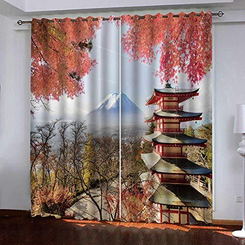 Gzclian verduisterende oogje thermische gordijnen zolder 3D afdrukken venster behandelingen 2 panelen voor slaapkamer woonkamer