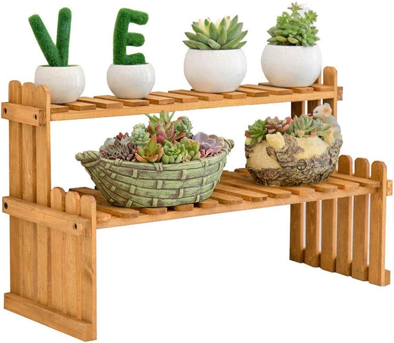 Flower racks - Solid Wood Flower Stand Desktop Display Plant Shelf Office Balcony Bedroom Living Room Pot Rack (Size   27  20  30cm)