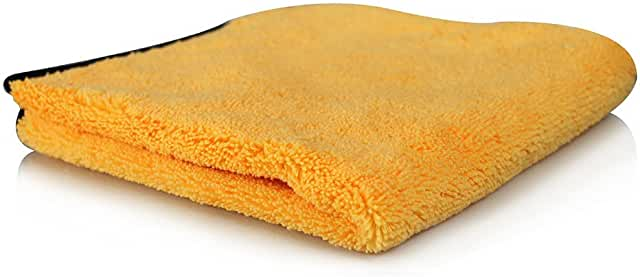 Yellow microfider drying towel.