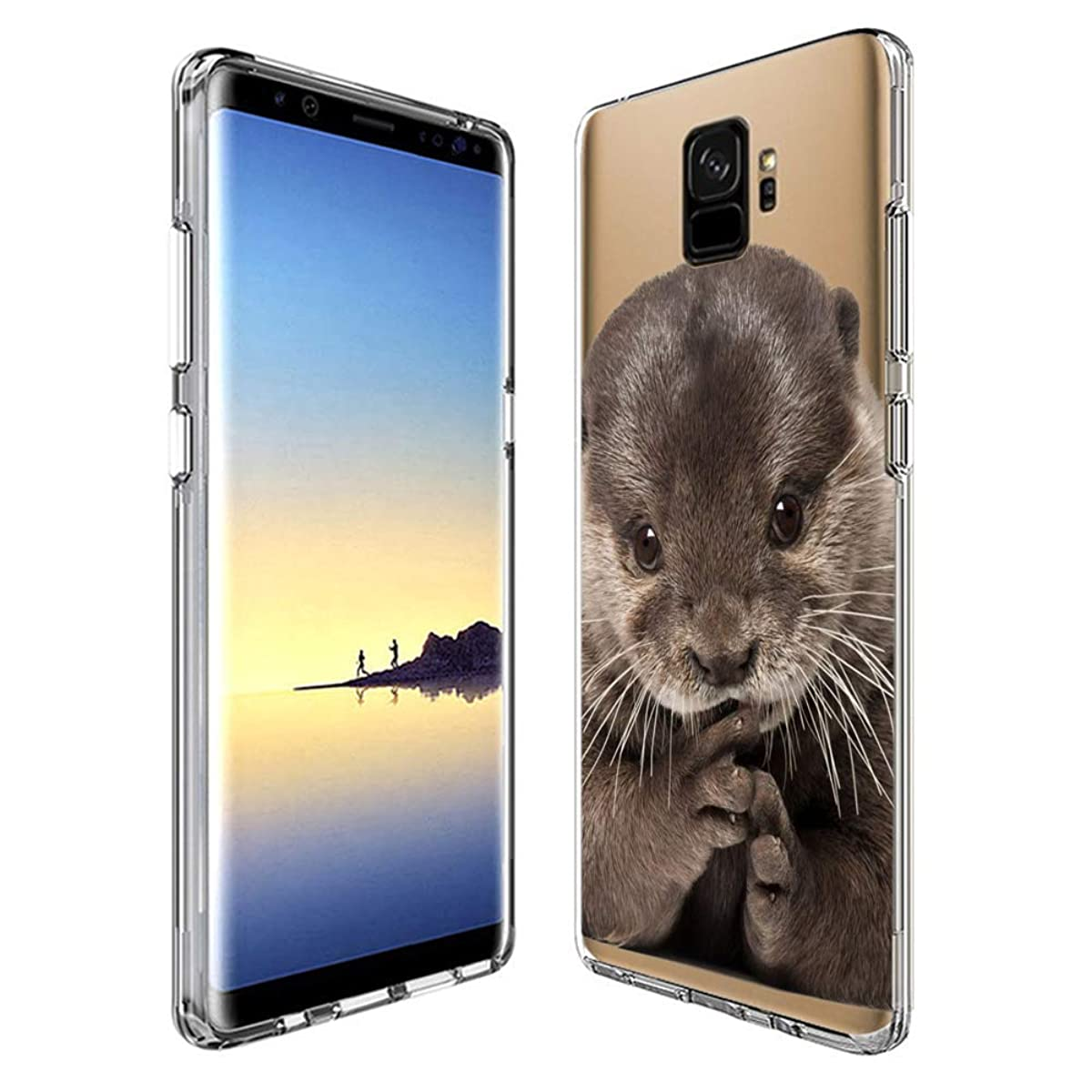 Customized Protective Cover with Slim Soft Durable TPU Ultra-Clear Silicone UV Printing Baby Otter Phone Case for Samsung Galaxy S9