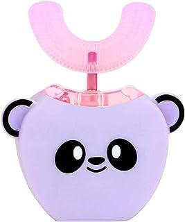 Anself Kinder elektrische Zahnbürste U-Form 360 Grad Mundreiniger mit automatischem Smart Timer Kaltlichtaufhellung für 3-...