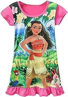 Gream Baby Moana Nightgown Girls Printed Princess Dress