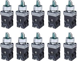10 قطع مفاتيح صغيرة بزر ضغط BEM‐XB2‐20XD/31 مفتاح مقبض دوار 3 مستويات مع إضاءة (24 فولت)